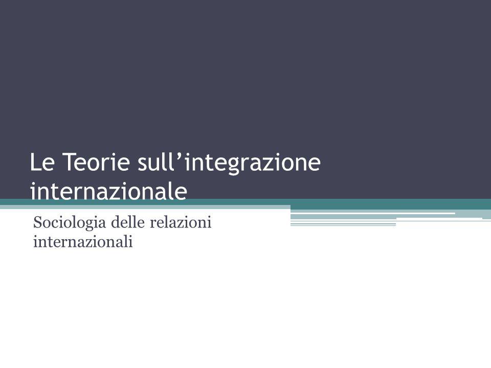 Le Teorie sull'integrazione internazionale