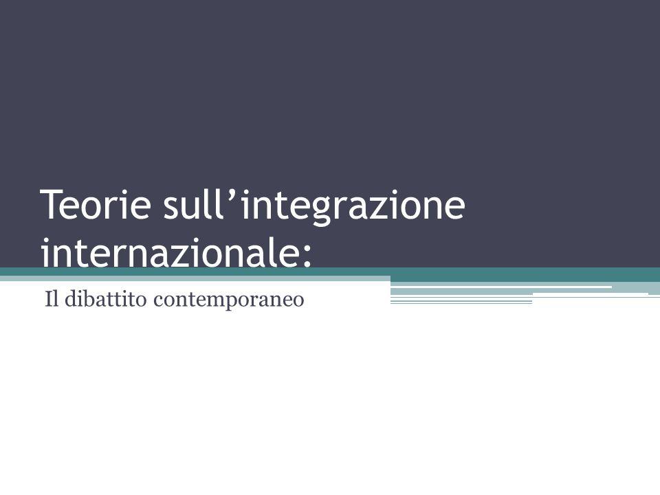 Teorie sull'integrazione internazionale: