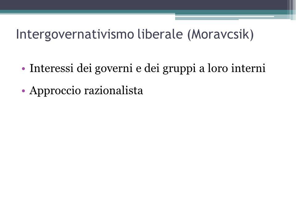 Intergovernativismo liberale (Moravcsik)