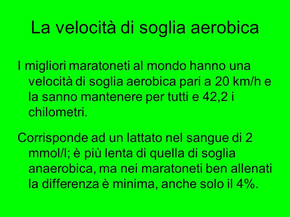 La velocità di soglia aerobica