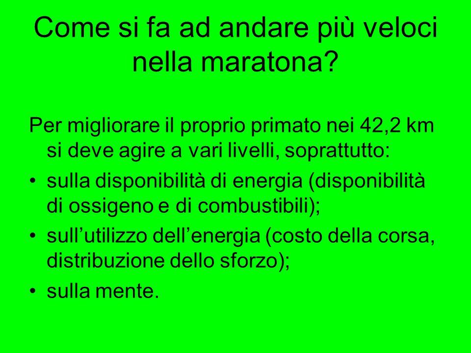 Come si fa ad andare più veloci nella maratona