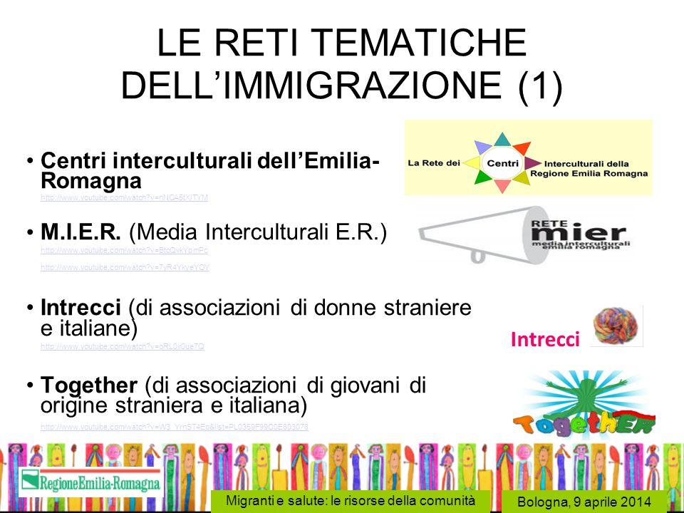 LE RETI TEMATICHE DELL'IMMIGRAZIONE (1)