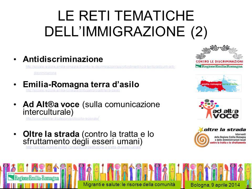LE RETI TEMATICHE DELL'IMMIGRAZIONE (2)