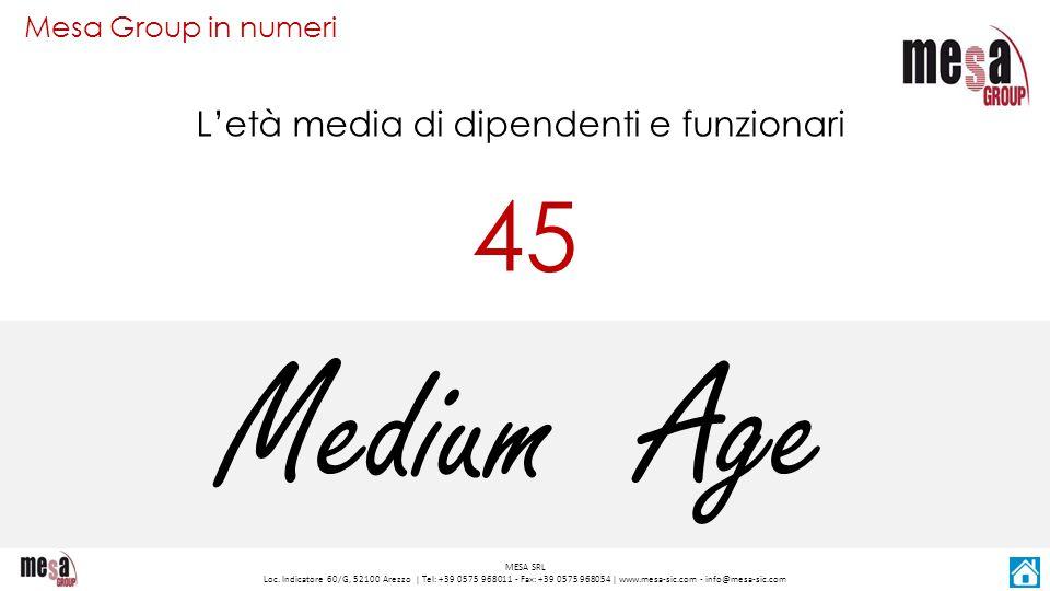 L'età media di dipendenti e funzionari