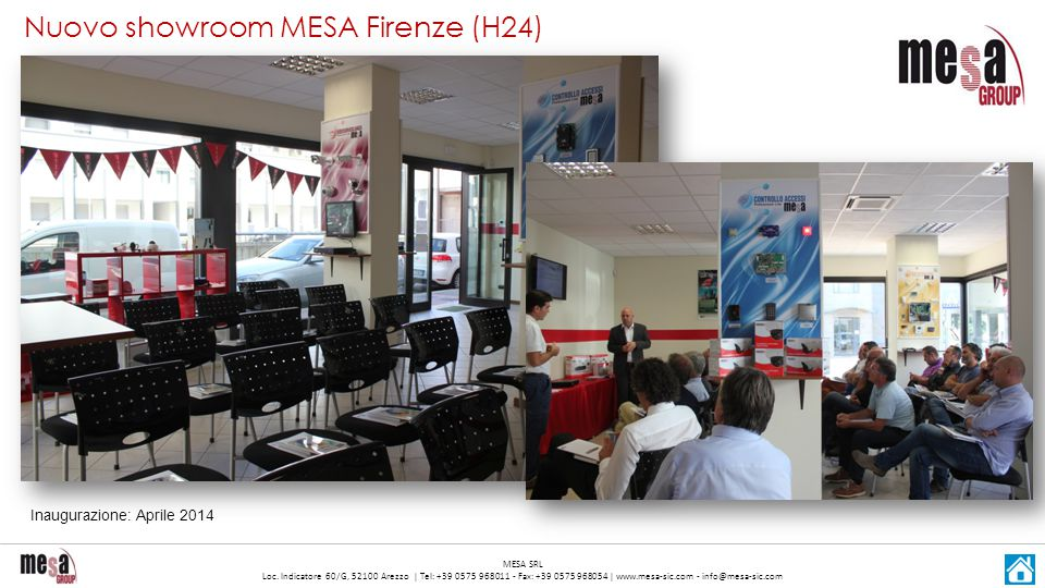 Nuovo showroom MESA Firenze (H24)