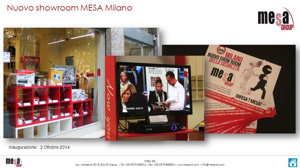 Nuovo showroom MESA Milano