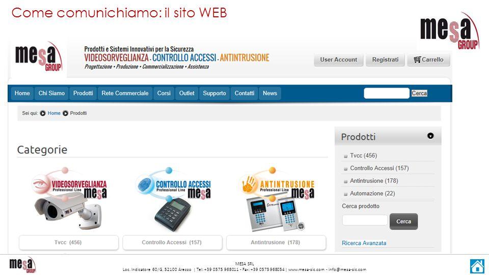 Come comunichiamo: il sito WEB