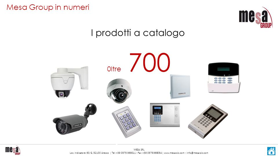 Mesa Group in numeri I prodotti a catalogo 0ltre 700