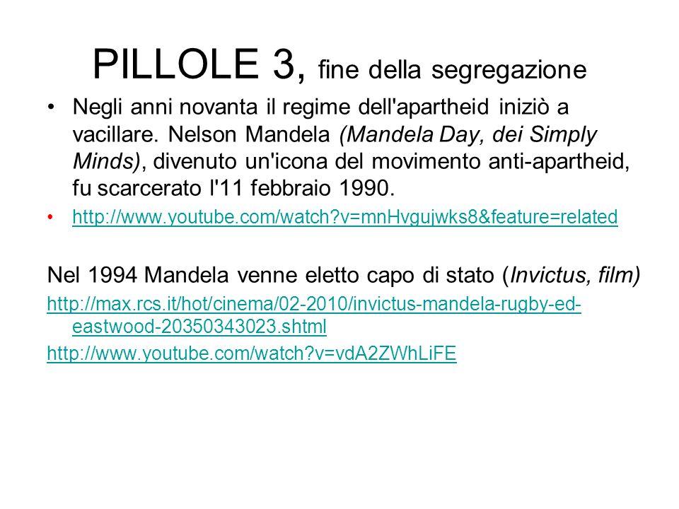 PILLOLE 3, fine della segregazione