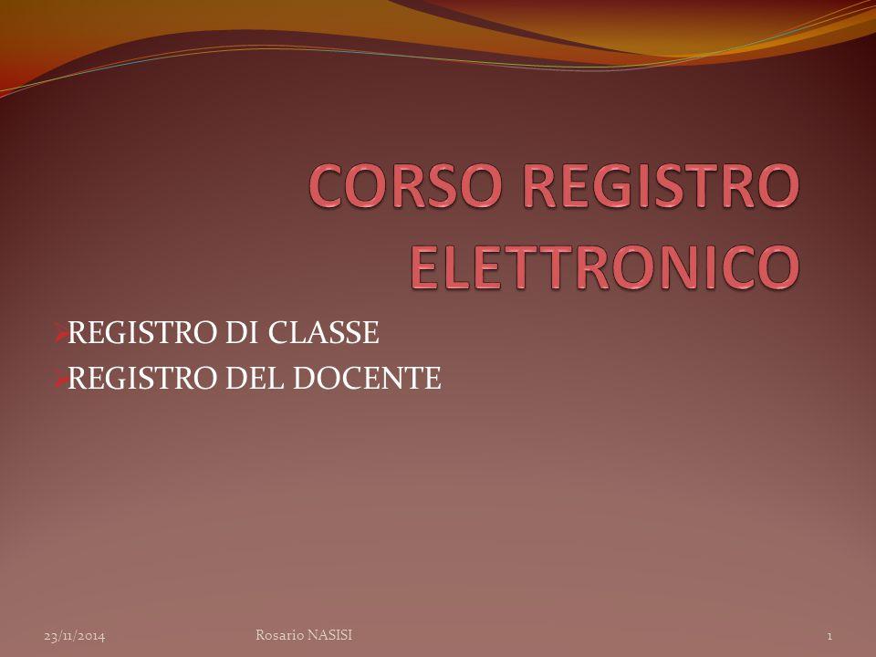 CORSO REGISTRO ELETTRONICO