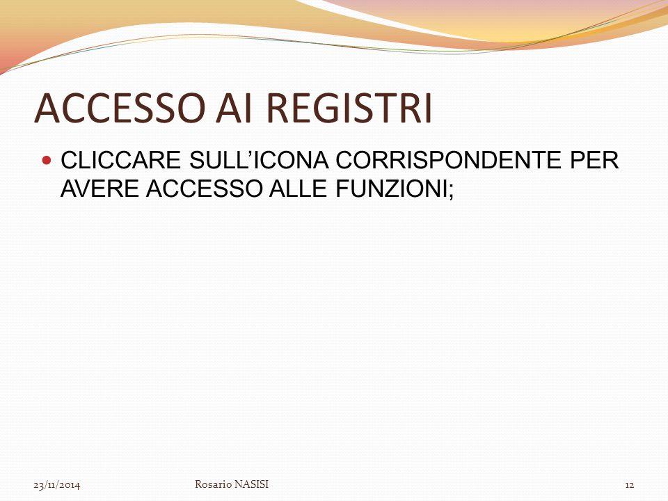 ACCESSO AI REGISTRI CLICCARE SULL'ICONA CORRISPONDENTE PER AVERE ACCESSO ALLE FUNZIONI; 07/04/2017.