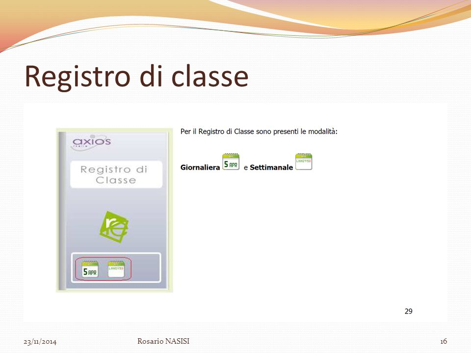 Registro di classe 07/04/2017 Rosario NASISI