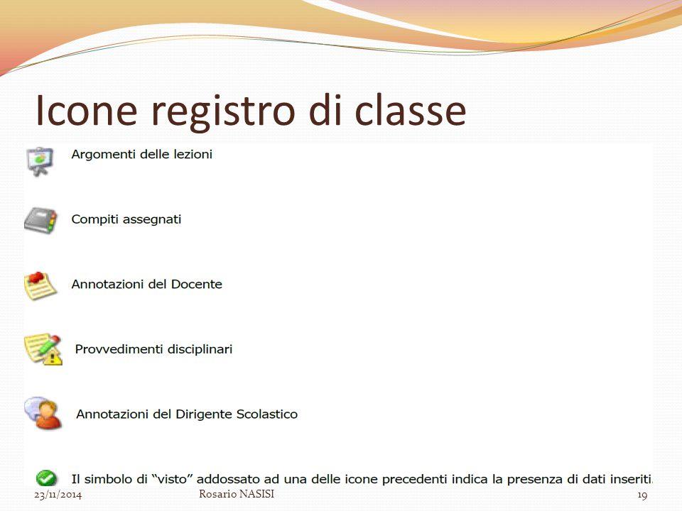 Icone registro di classe