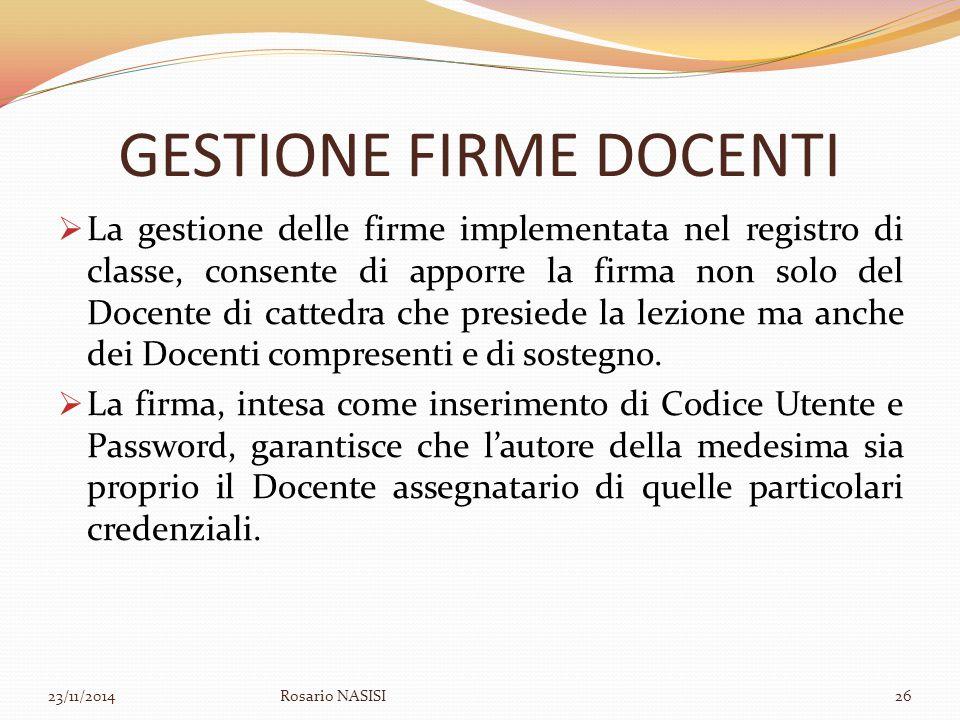 GESTIONE FIRME DOCENTI