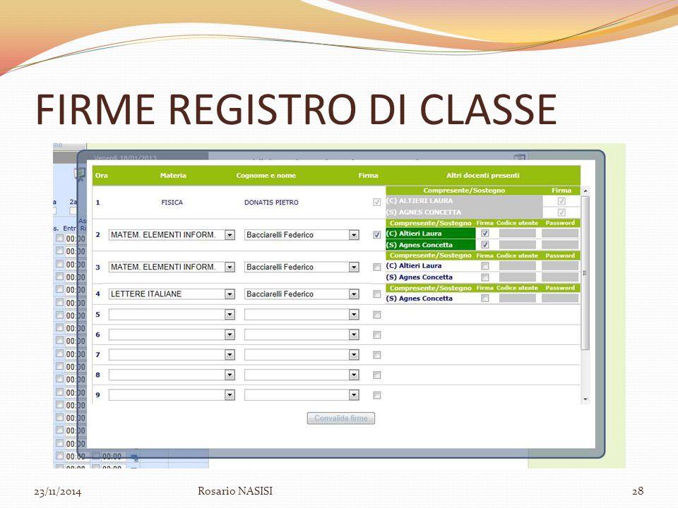 FIRME REGISTRO DI CLASSE