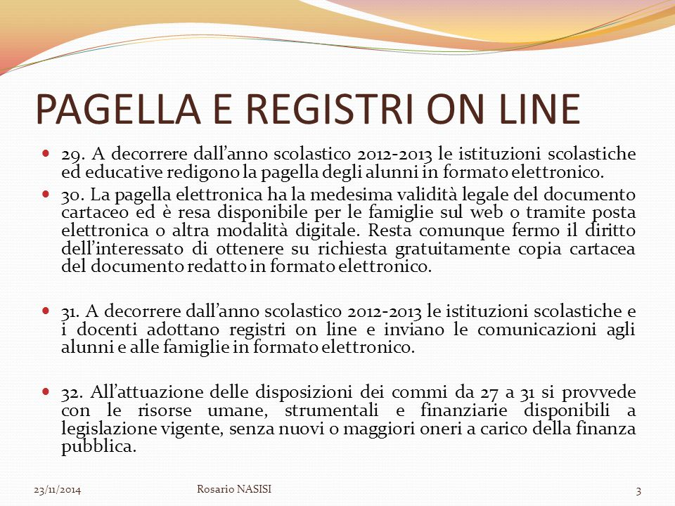 PAGELLA E REGISTRI ON LINE