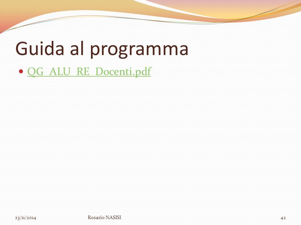 Guida al programma QG_ALU_RE_Docenti.pdf 07/04/2017 Rosario NASISI