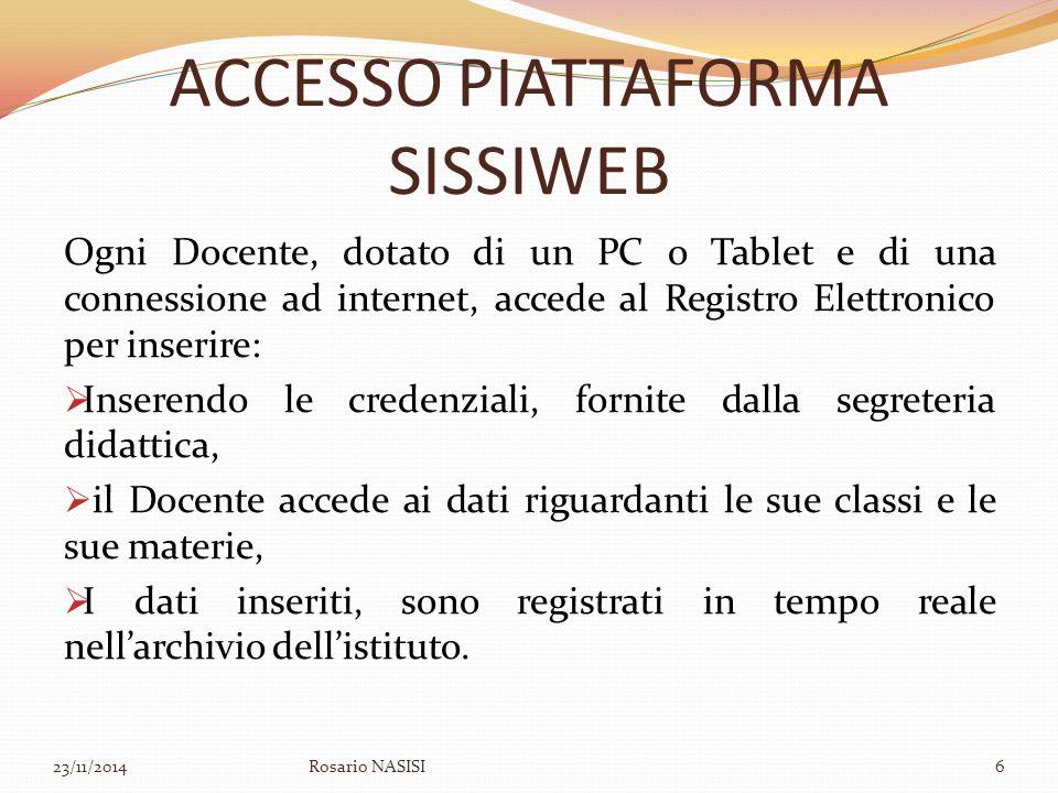 ACCESSO PIATTAFORMA SISSIWEB