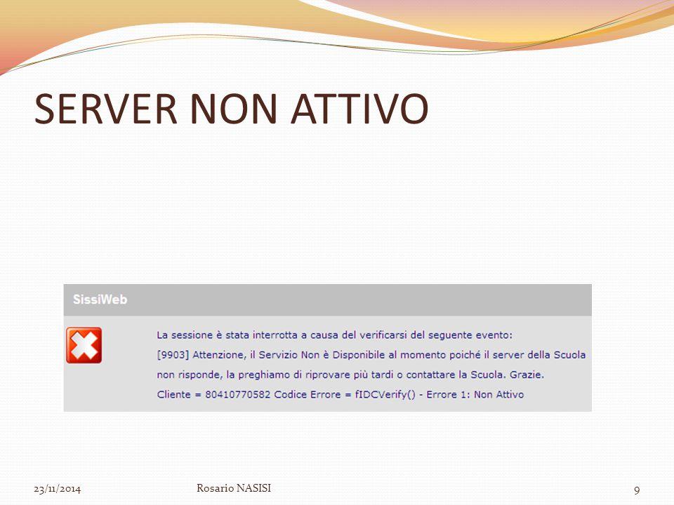 SERVER NON ATTIVO 07/04/2017 Rosario NASISI