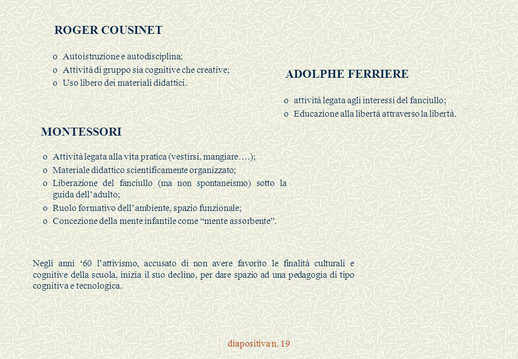 ROGER COUSINET ADOLPHE FERRIERE MONTESSORI