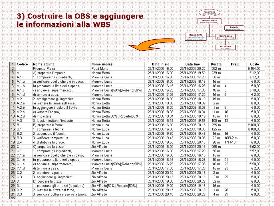 3) Costruire la OBS e aggiungere