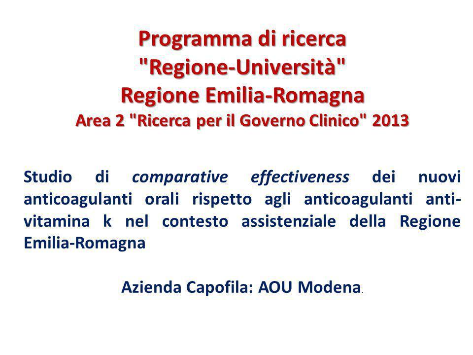 Azienda Capofila: AOU Modena.