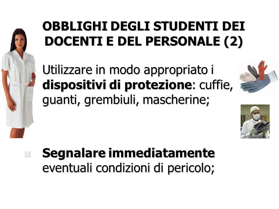 OBBLIGHI DEGLI STUDENTI DEI DOCENTI E DEL PERSONALE (2)