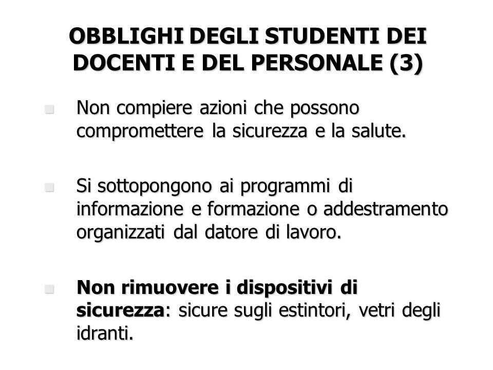 OBBLIGHI DEGLI STUDENTI DEI DOCENTI E DEL PERSONALE (3)