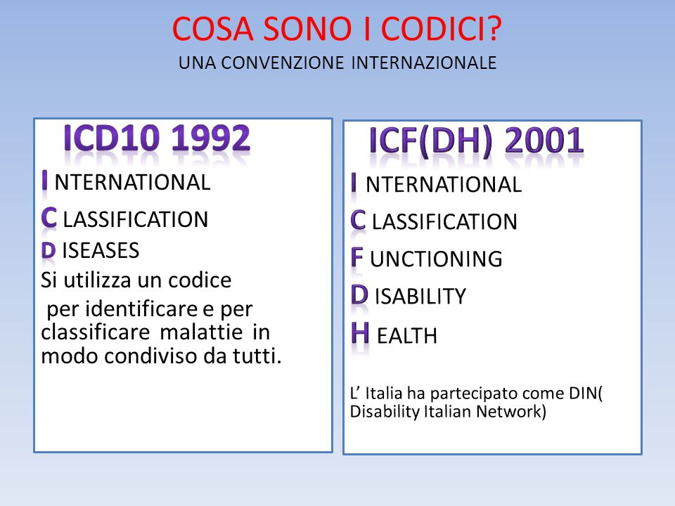 COSA SONO I CODICI UNA CONVENZIONE INTERNAZIONALE