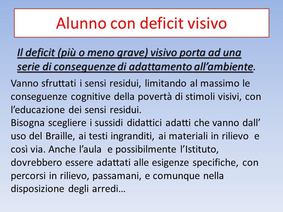 Alunno con deficit visivo