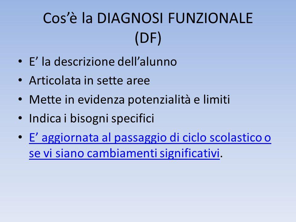 Cos'è la DIAGNOSI FUNZIONALE (DF)