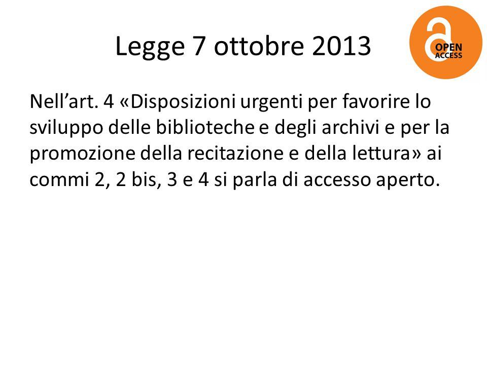 Legge 7 ottobre 2013