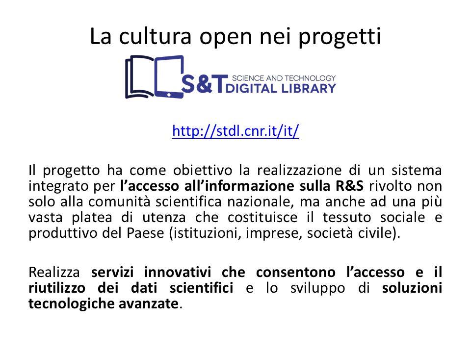 La cultura open nei progetti