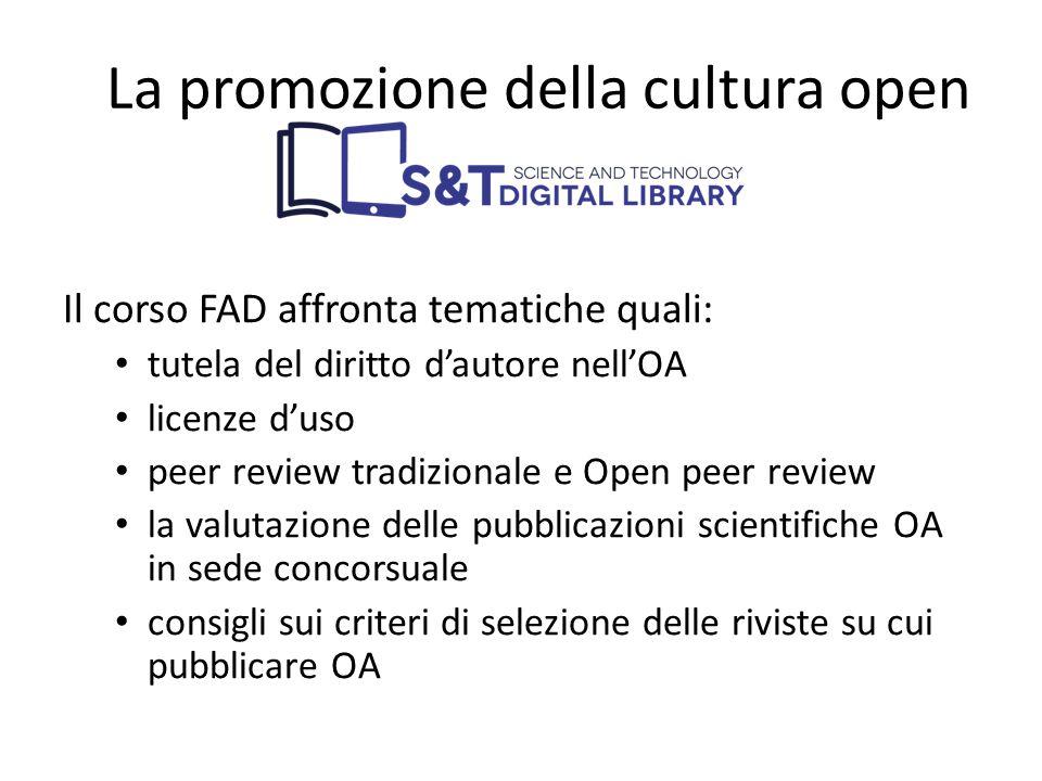 La promozione della cultura open