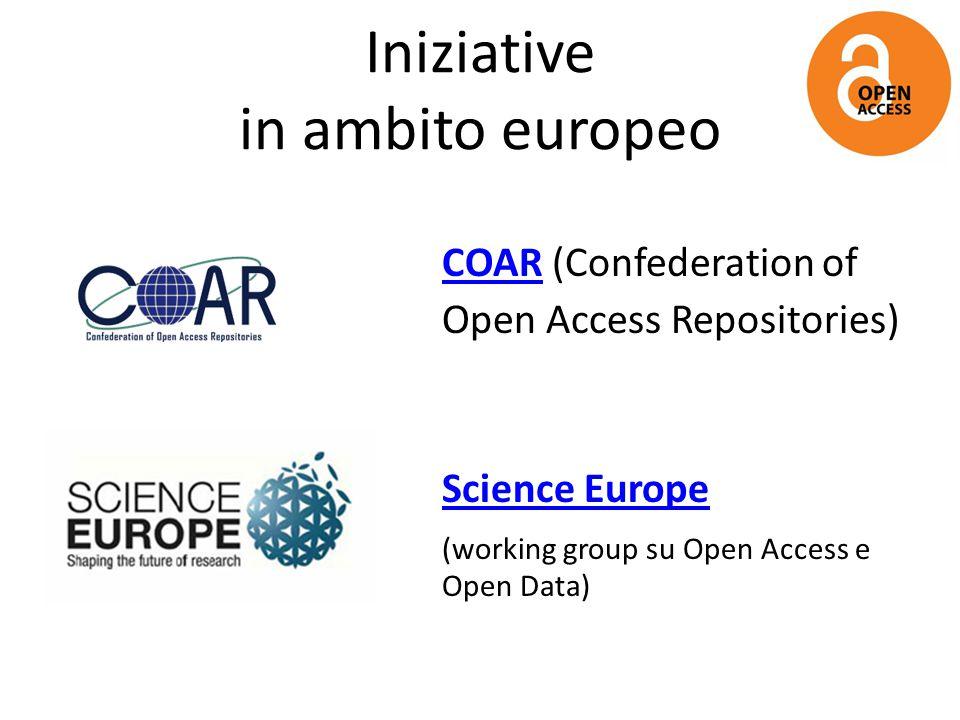 Iniziative in ambito europeo