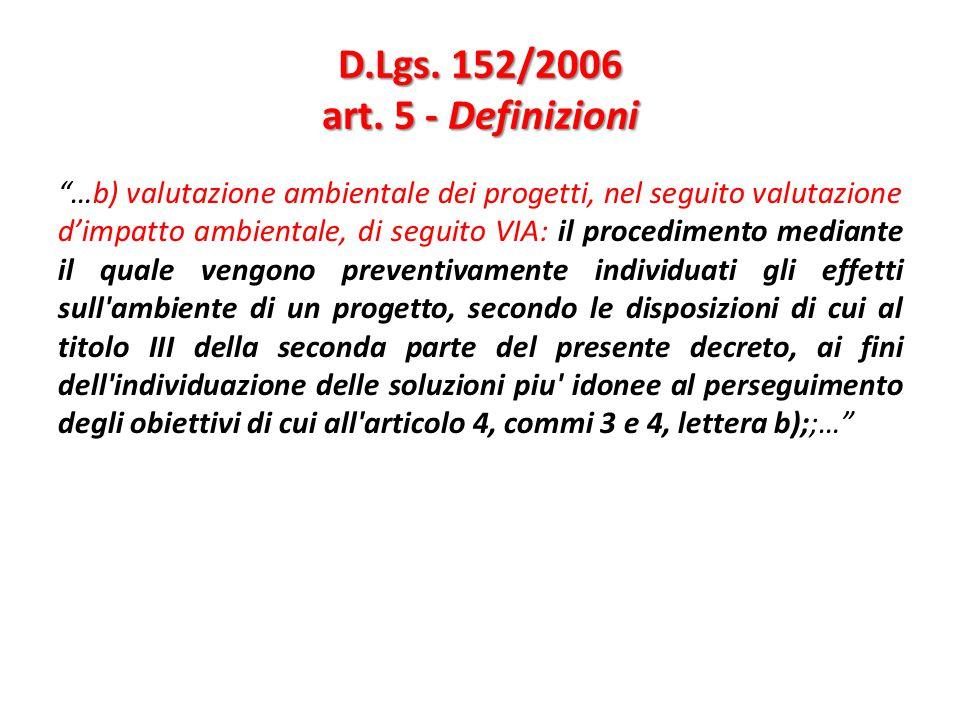 D.Lgs. 152/2006 art. 5 - Definizioni