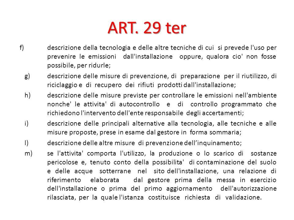 ART. 29 ter