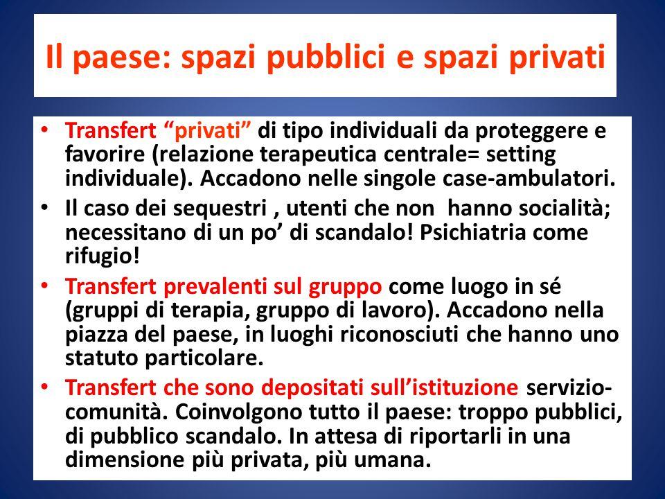 Il paese: spazi pubblici e spazi privati