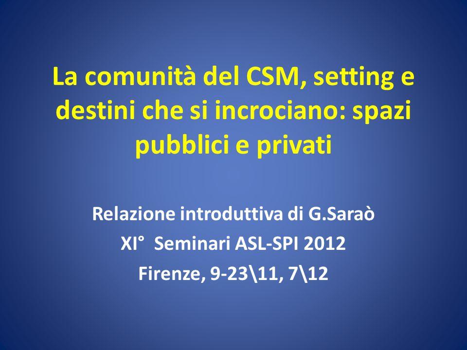 Relazione introduttiva di G.Saraò