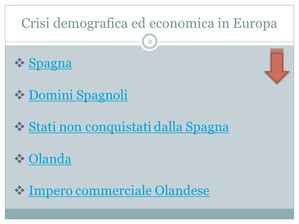 Crisi demografica ed economica in Europa