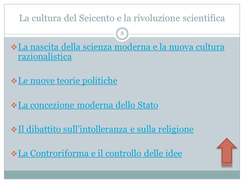 La cultura del Seicento e la rivoluzione scientifica