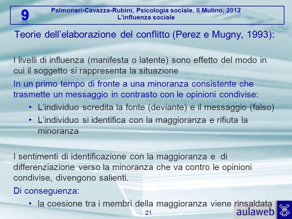 Teorie dell'elaborazione del conflitto (Perez e Mugny, 1993):