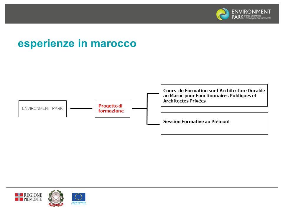 esperienze in marocco Cours de Formation sur l'Architecture Durable au Maroc pour Fonctionnaires Publiques et Architectes Privées.