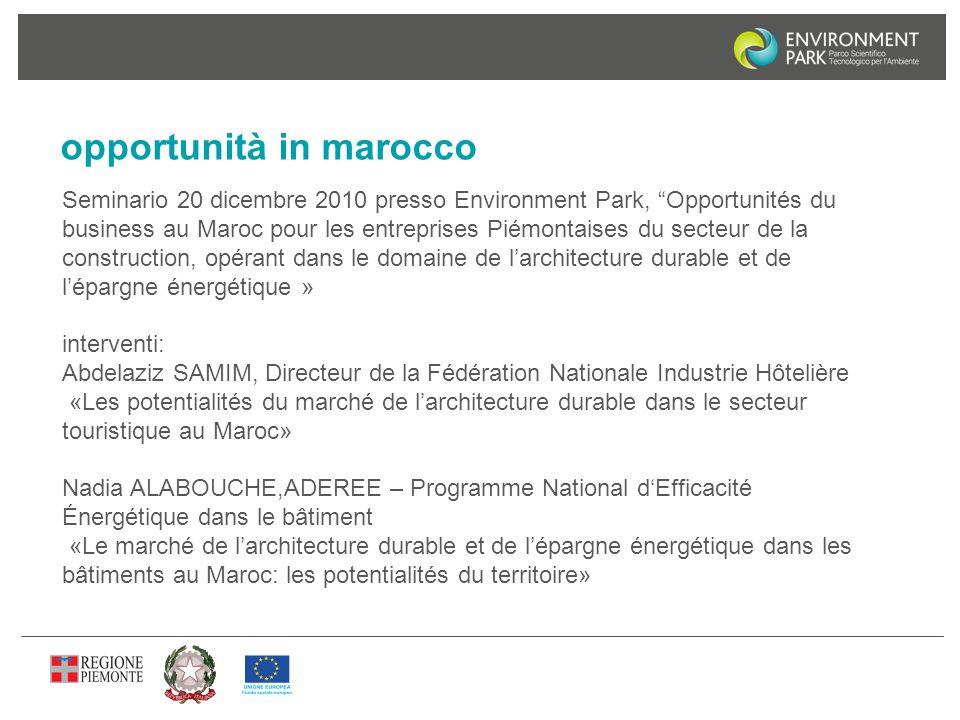 opportunità in marocco