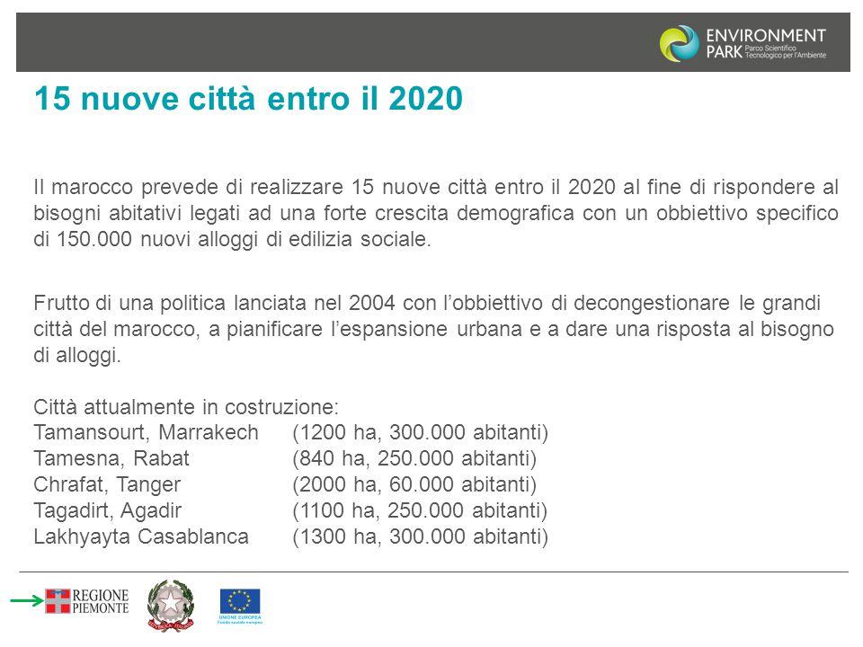 15 nuove città entro il 2020