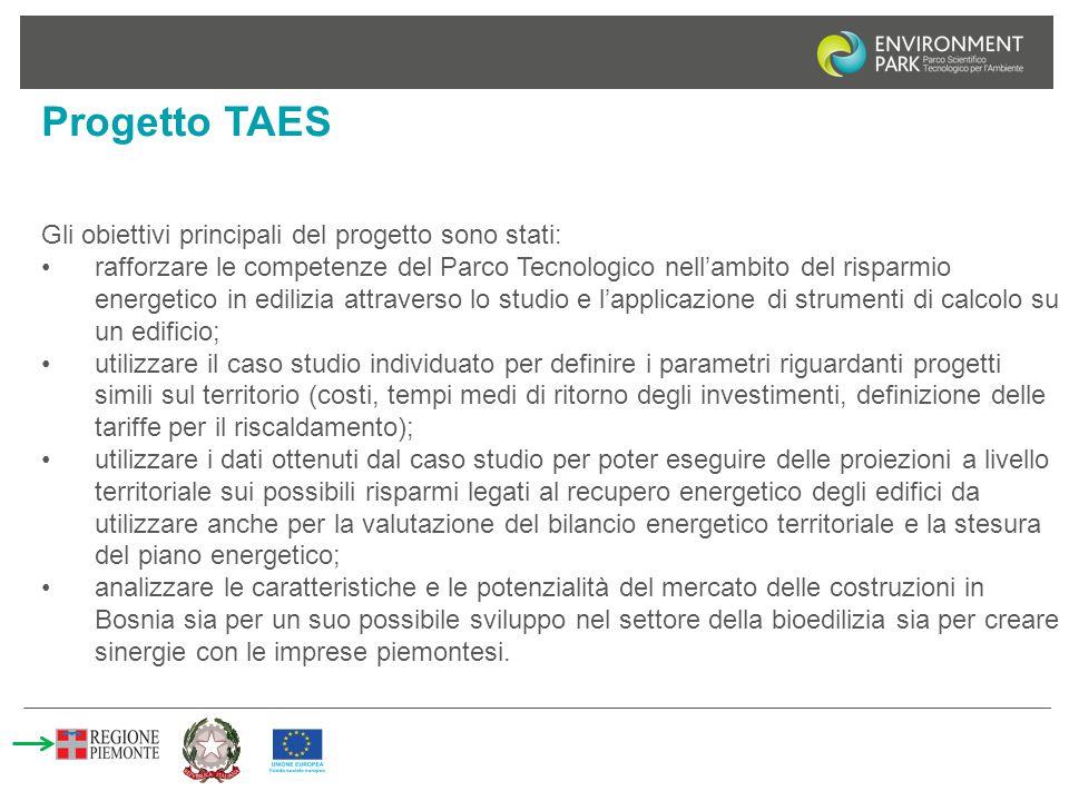 Progetto TAES Gli obiettivi principali del progetto sono stati: