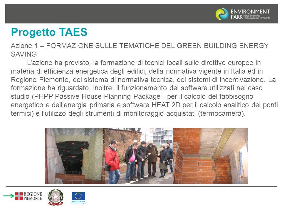 Progetto TAES Azione 1 – FORMAZIONE SULLE TEMATICHE DEL GREEN BUILDING ENERGY SAVING.