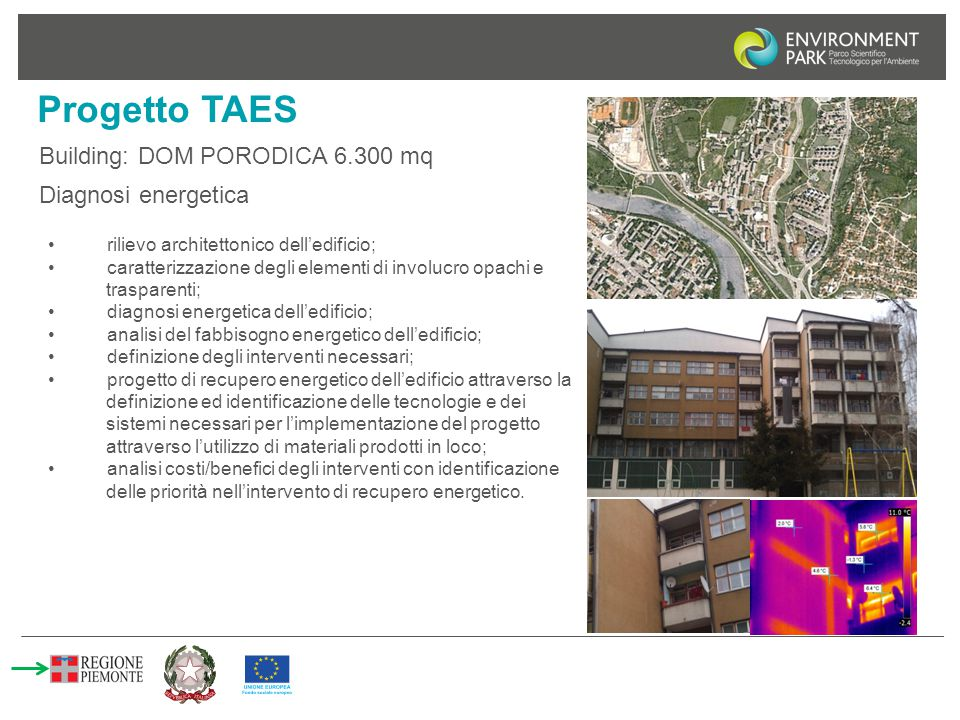 Progetto TAES Building: DOM PORODICA 6.300 mq Diagnosi energetica
