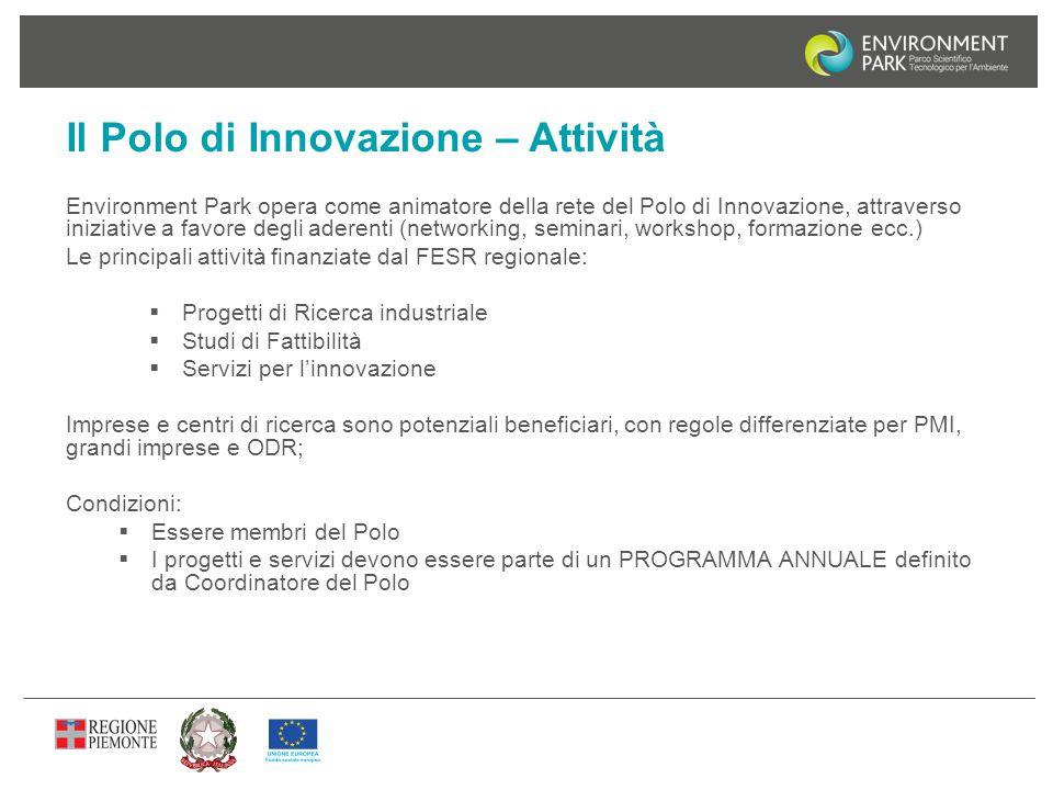 Il Polo di Innovazione – Attività