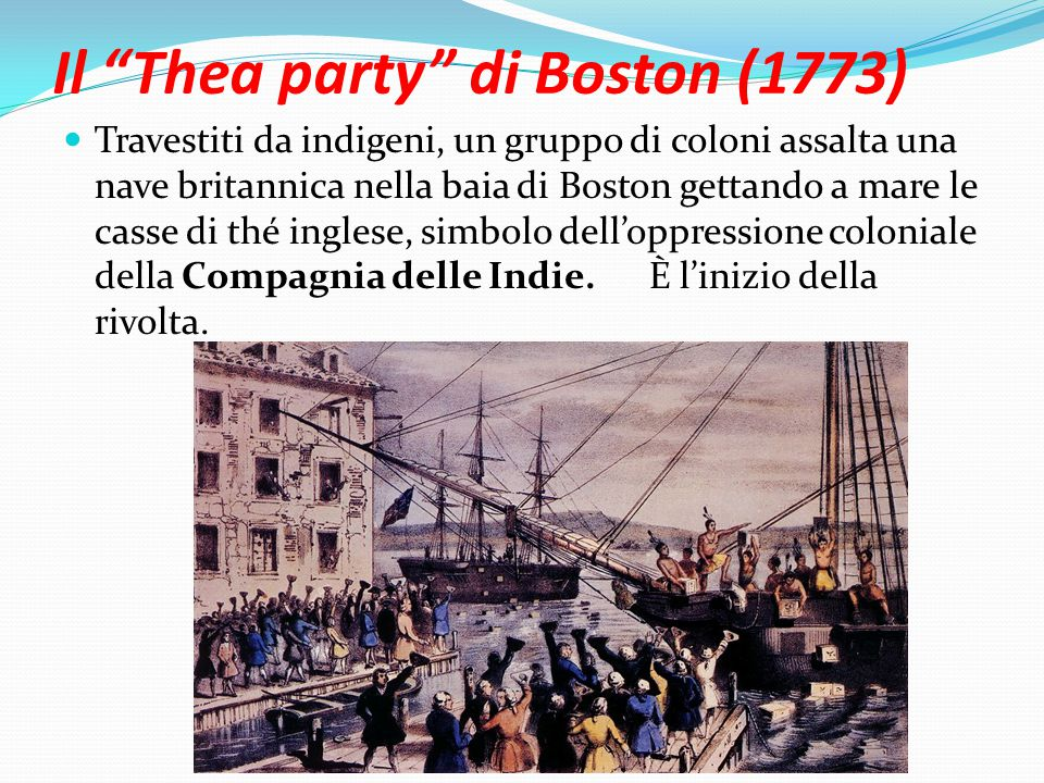 Il Thea party di Boston (1773)